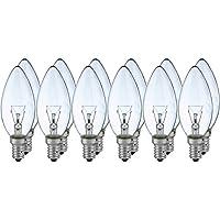 12 x Glühlampe Glühbirne Kerze 40W E14 klar 40 Watt Glühlampen Glühbirnen