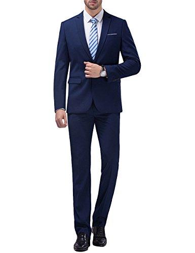 Herren 2-Teilig Anzug Slim Fit für Hochzeit und Party
