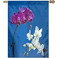 Kotdeqay Forest Polyester House Garden Flag Banner 28 x 40 Inch,Spring Flower Decorative Flag for Wedding Home Outdoor L2
