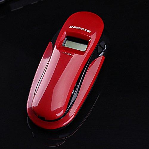rgebundene Telefone / Anrufer-ID / freie Batterie / Wand und Tisch Doppelt Gebrauch ( Farbe : Rot ) (Wand-schnurgebundenes Telefon)