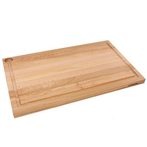 Naturehome grande holzschneidebrett massiccio i tagliere legno di faggio con succo frutta unilaterale da cucina in massello pane 58 x 36 x 3 cm