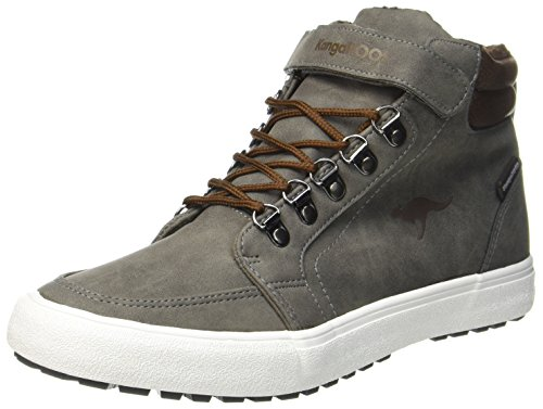 KangaROOS Nery, Baskets Hautes Mixte Adulte Grau (Steel Grey/Saddle Brown)