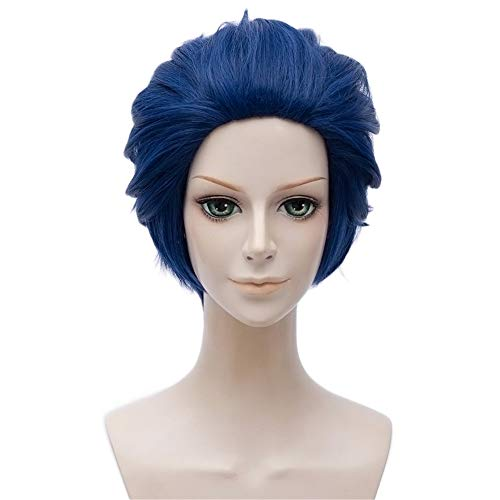 arden von Gilbert Bougainvillea cosplay perücke Herren Kurz cosplay Wig perücke karneval fasching Halloween Party, Blau ()