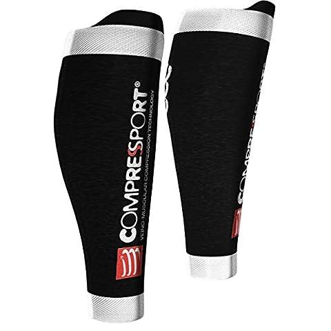 Compressport R2 Calf V2 Calf Sleeves Calf Guard Compression Leg Warmers, black, T4 (calf circumference 42-46)