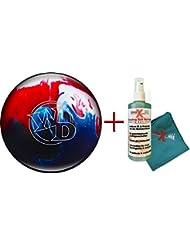 Bola de bowling - principiantes y Räumball White Dot Patriot Sparkle 3.63 kg hasta 6.8 kg + limpiador y Toalla - para hombre y mujer - - a la izquierda y derecha blau rot grün gelb pink lila rosa Talla:9 lbs