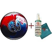 Bowling–Les débutants et d'écartement Ball White Dot Patriot Sparkle 8lbs jusqu'à 15lbs + Nettoyant et serviette–Pour Homme et Femme–droitiers et gauchers