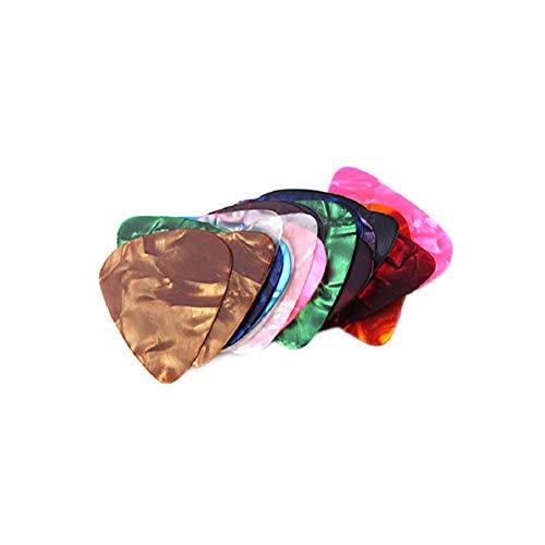 AAGOOD 20pcs Berufs Plektren Ersatz Kunststoff Finger Daumen Picks für Bass-Gitarren Banjos Ukulele zufällige Farbe