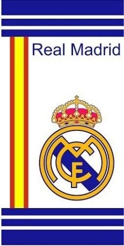 Regalo Bolsa Tela Exclusiva + Towel Beach REAL MADRID OFICIAL Spain Flag White 152×76 cms