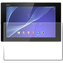Protector de pantalla Cristal templado para Sony Xperia Z2 Tablet Calidad HD, Grosor 0,3mm, Bordes redondeados 2,5D, alta resistencia a golpes 9H. No deja burbujas en la colocación (Incluye instrucciones y soporte en Español)