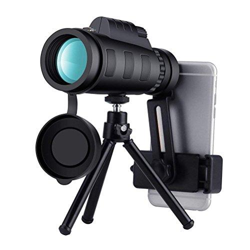 Mmsdt Einrohr Dual-Fokus Teleskop Handy Kamera HD Nachtsicht Mini Outdoor 12X50 High Power Prisma Zielfernrohr Mit Wasserdichtem Nebel Beweis Stoßfest (Farbe : B)