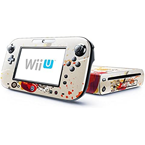 Mia Musica 10007, Chitarra, Skin Autoadesivo Sticker Adesivi Pelle Cover Decal Set con Disegno Strutturato con Nintendo Wii U