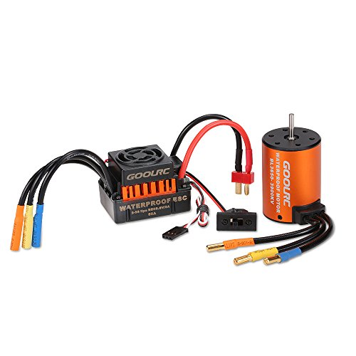 GoolRC Upgrade Wasserdicht 3650 3900KV Brushless Motor mit 60A ESC Combo Set für 1/10 RC Auto Truck - Gas-rc-car Motoren
