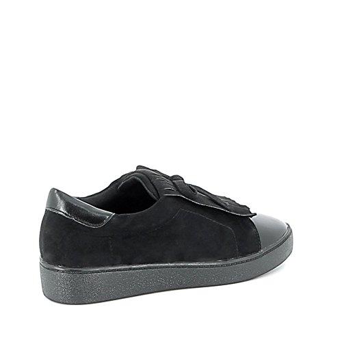 Slippers à franges Noir