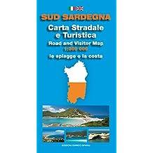 Sud Sardegna. Carta stradale e turistica. Le spiagge e la costa 1:300.000