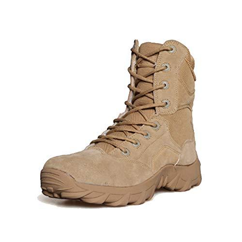 XCBW Scarponcini da Trekking Alti da Uomo per Esterno Scarpe Militari tattiche Antivento per Escursioni in Montagna Alpinismo Fuoristrada,38