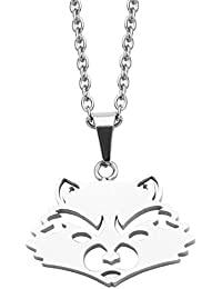 Marvel Comics Unisex Adult Guardians of the Galaxy Rocket Cut out Stainless Steel Pendant Necklace, Silver, One Size