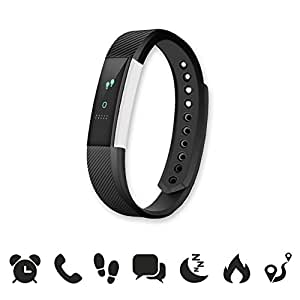 endubro W33/ID115 - MANUALE E APP IN ITALIANO - Braccialetto fitness / fitness tracker / smart bracelet / smartwatch con touchscreen Oled e Bluetooth 4.0 per Android e IOS - contapassi, monitoraggio del sonno, notifiche chiamate/SMS/Whatsapp/Facebook con Android e IOS