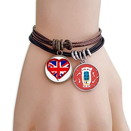 Love Heart UK England Landmark Bracelet Rope Wristband Microphone Sing Gift