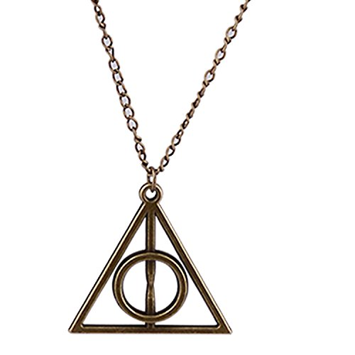 Ym Harry Potter Inspired Deathly Hallows Bronze Pendant For Women [Pd069]