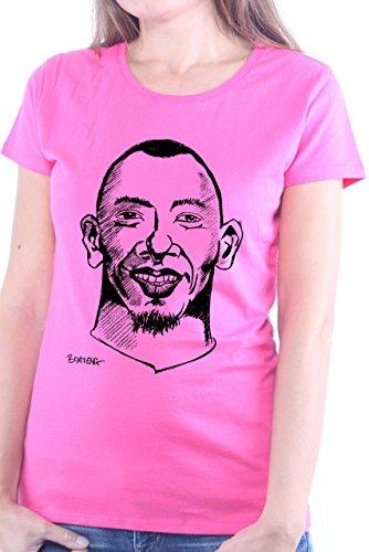 Mister Merchandise Cooles Damen T-Shirt Jerome Boateng , Größe: XL, Farbe: Pink