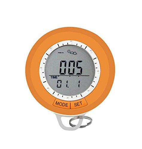 RUIX Barometer Multifunktionale Bergsteigen Tisch Schrittzähler Kompass Außenthermometer Wasserdicht Höhe Höhenmeter
