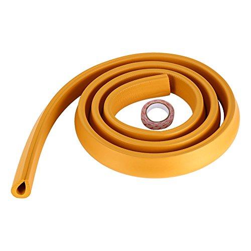 Zerodis protezione per angolari da tavolo per bambini, a forma di u, per bambini piccoli, per bambini, casa, mobili, schiuma di sicurezza, paraurti, collisione, cuscino, striscia(orange)