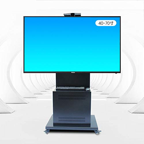 XUE Universal TV Cart, TV-Stand für 32-70 Zoll LED LCD-Plasma-Flast-Panels mit Cabinet 360 º of Swivel Mit Wheels Mobile Wire Management Height Adjust Bedroom Klassenzimmer-Meeting Raum Video-Call Lcd-panel Cantilever Mount