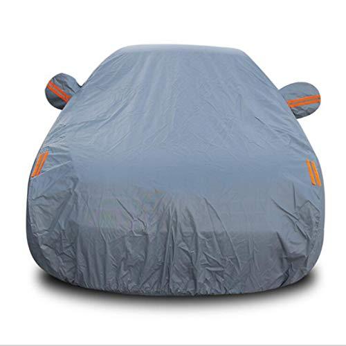 AJZGF Car sunscreen / rain / waterproof / anti-freeze / car anti-dirty cap Car full sunscreen garage cover (color: Gray)