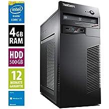 Ordinateur de Bureau Lenovo ThinkCentre M72e MT - Core i5-3470 @ 3,2 GHz - 4Go RAM - 500Go HDD - Lecteur DVD - Win10 Home (Reconditionné Certifié)
