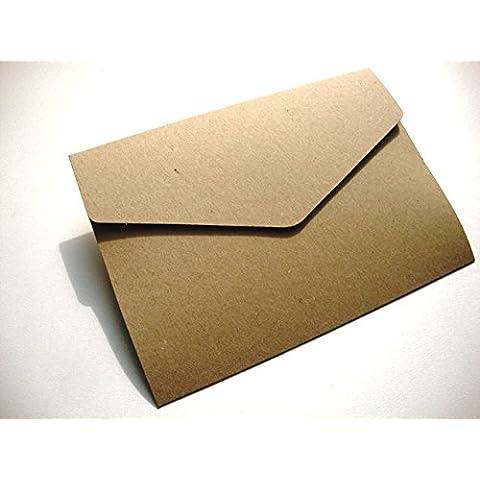 A5/C5Cartera de invitaciones invitaciones, papel kraft reciclado 280g/m² con sobres de Cranberry Card