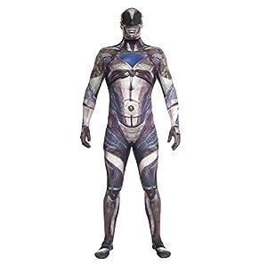 Morphsuits Disfraz de mlprmdbk2186-206cm oficial negro Deluxe película disfraz de Power Ranger (2x -Large)