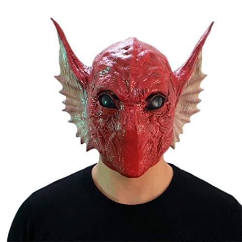Ghost Funny Kostüm - Alien Serpent Head Masken, Halloween Latex Monster Ghost Grimasse Kostüm Zombie Devil Funny Masquerade Scary Creepy Kostüm
