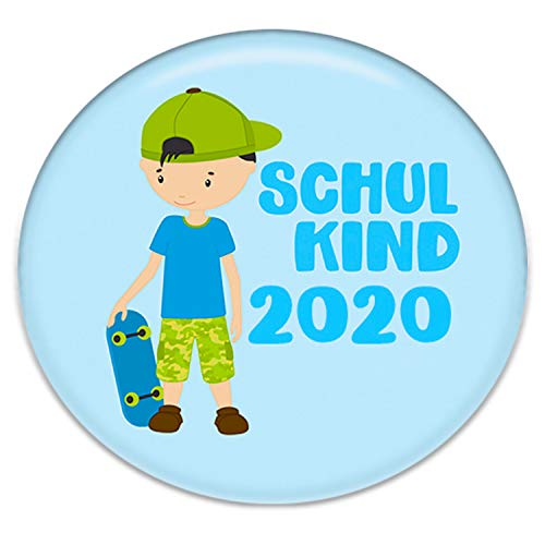 Polarkind Button Pin Anstecker Schulkind 2018 Geschenk Zum Schulanfang Junge 38mm Handmade