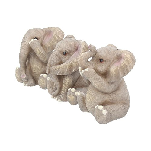 Nemesis Now Three - Figura Decorativa de Elefante (12 cm, 30 cm),...
