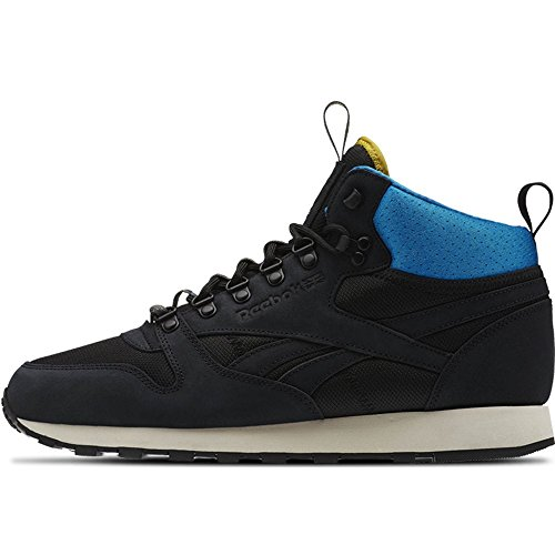 Reebok Classic Leather Mid BC - Black/Instinct Blue/Harvest Green/Paper Whi - Men´s