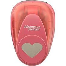 Vaessen Creative Perforadora Corazón Grande 36.4 x 30.1 mm, Metal, Plástico, Multicolor, 12.7x8.5x6.7 cm