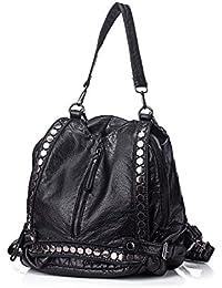 Bolsos de la mochila de las mujeres 2 en 1 Bolso de hombro de la PU de las señoras de cuero lavadas a prueba de agua de la mochila
