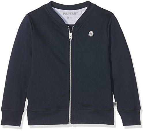 Papfar Jungen Strickjacke Sweat Kids Sweatshirtjacke Gots-Zertifiziert, Blau (Blue Nights 287), 140 (Herstellergröße: 10Y)