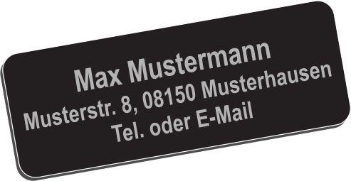 """Drohnen-Kennzeichen Plakette Schild """"Aluminium elox."""" 40x10mm mit hochwertiger Lasergravur inkl. Klebestreifen"""