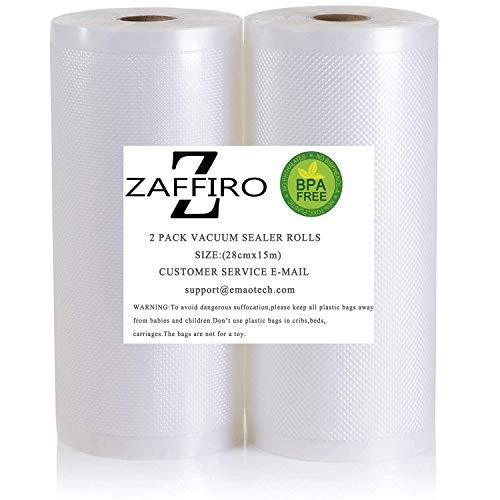 Vakuumiergerät Profi- Folienrolle,Vakuumrollen 2 rollen 28cm x 15m (Vakuumbeutel) für Lebensmittel | Vakuumier-Folie | Sous-vide | Profi-Qualität für Folienschweißgeräte