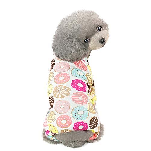 EUZeo Pet Frühling und Sommer Print Kleid Hund Katze Haustierbekleidung Kostüme Pet Kleidung Lässig Gedruckt Hundebekleidung Kleine Hundepullover Katze Kleidung T-Shirts ()