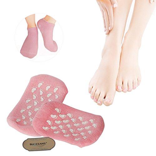 1 Paar Unisex SPA Gel Feuchtigkeitsspendende weich und geschmeidig Socken/ Gel Socken, Magische Unisex Kosmetikerin erweichen Whitening feuchtigkeitsspendende Behandlung Fußpflege Gel Socken(Rosa)