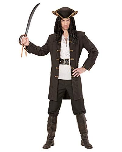 Horror-Shop Schwarzer Piraten Kapitäns Mantel als Kostümzubehör XL