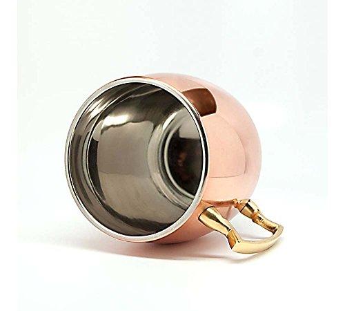 Indian Handicrafts Export Copper Barrel Mug Plain with Nickle 16 Oz 16 Oz Barrel Mug