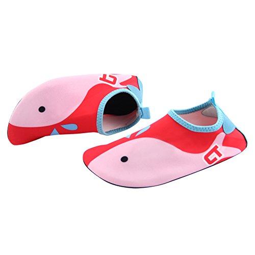 Play Tailor Kinder Schwimmen Wasser Schuhe Barefoot Aqua Socken Schuhe für Beach Pool Surfen Yoga