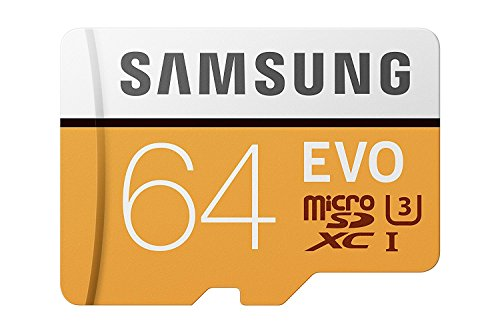 Samsung EVO Grade 3, Class 10 64GB MicroSDHC 100 MB/S Memory Card with SD Adapter (MB-MP64GA/IN)