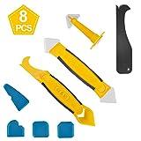 Silikonentferner & silikon fugenwerkzeug,Multifunktionale 8 in 1 Profi Silikon Werkzeug Schaber Set für Küche Badezimmer Boden