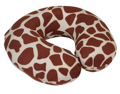 Motionperformance Essentials-Cuscino proteggi-collo in memory foam, prodotti di lusso, velluto, ideale per viaggiare, spostarsi in auto, aereo, TV, lettura) White Giraffe