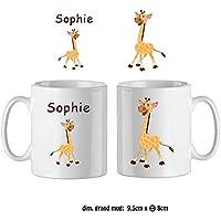 Texti-cadeaux-Mug Girafe-personnalisé avec un prénom exemple Sophie