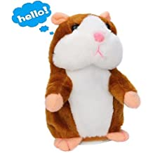 Lalagofe Plüschhamster Sprechende Hamster Kuscheltier Plüschtier Spielzeug Talking Toy Hamster Adorable interessante Kinder Plüsch Spielzeug 15cm